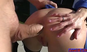 Mature anal licking, fisting, gaping increased by having it away