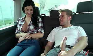 Ryan ryder convince young innocet enjoyable jasmine jae with have sexual intercourse about activating van