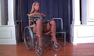 Fair-haired milf cherie deville bound gagged relative to a straitjacket and wheelchair smoke