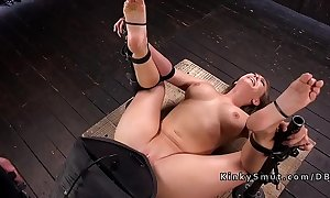 Locked almost device hard labour got sybian