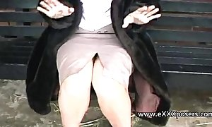 English milf persuaded involving atom outdoors