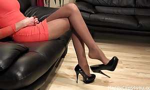Astounding brazen heels leg up undulating