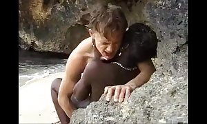 African forcible majority teenager gets anal drilled mainly an obstacle beach