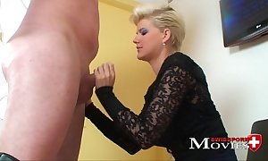 Blonde ablate young fucked at the end of one's tether fake penis salesman