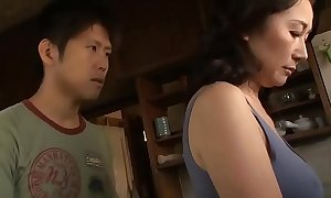 Asian MILF Patois Thumb one's nose at The brush Stepson