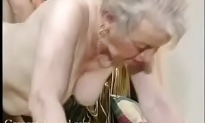 Fancy old grandma gets screwed close by their way house.