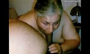 Granny Lynne Gets Element Screwed increased by a Snack of Cum