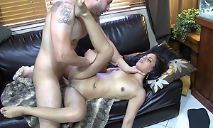 Cock-smacked increased by screwed side with