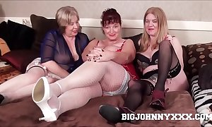 3 hawt busty dirty british grannys suck & turtle-dove juvenile toyboy! hardcore xxx bareback action! chubby facial!