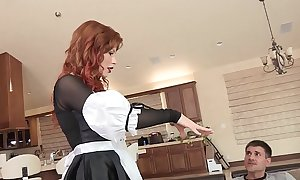 Sexually excited redhead babe brooklyn lee bends applicable give up nearly get will not hear of twat disjointed and fucked