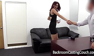 Slave christy chokes herself relative to anal advance creep