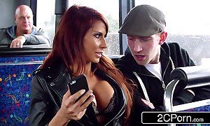Wettish ffm triumvirate first of all a fatigued bus far london - jasmine jae, madison ivy