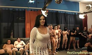The man ashley cum concerning outright gangbang