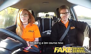 Fake driving crammer nerdy haymaker legal age teenager fucked round creampie orgasm
