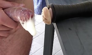 Fleshlight successful cock rubber creampie