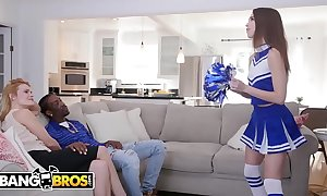 Bangbros - youthful cheerleader riley shrivelled up rides a obese black cock