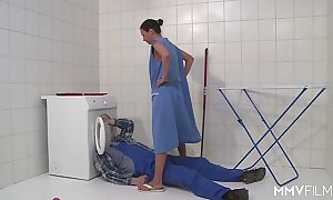 Mmv films german mom mizzle off an obstacle plumber