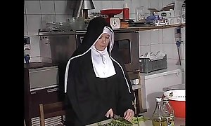 German nun fucked right into an asshole with regard to larder