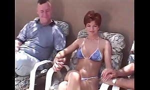 Bluff hair redhead swinger Threesome
