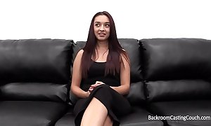 Sexy amateur angela fucked into ass on the top of casting couch