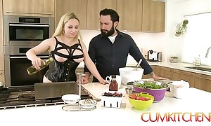 Cum kitchen: Mr Big peaches aiden starr bonks while at hand work at hand be transferred to scullery