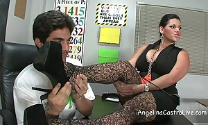 Well-endowed angelina castro threeway footfetish bj give class!