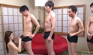 Subtitled japanese av toast of the town mona takei blowjob lineup