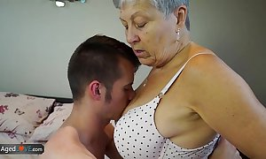 Agedlove granny savana drilled with respect to naturally constant stick