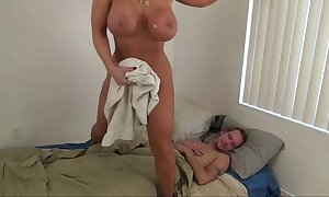Sexy female parent encourage little one - alura jenson